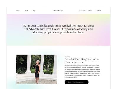 Ana's Website Design & Development natural healthy lifestyle web development ux minimal logo essentials oils web design branding