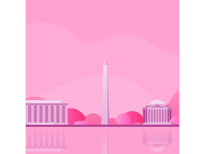 DC in the spring flat design vector illustration