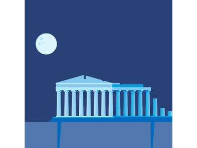 Athens - Acropolis vector illustration flat design