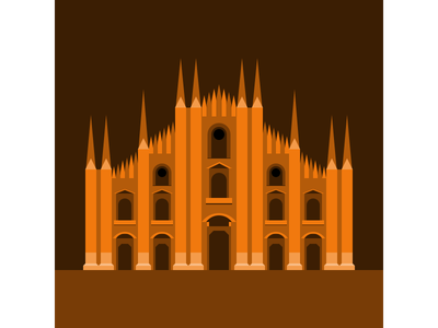 Milan - Duomo di Milano vector illustration flat design