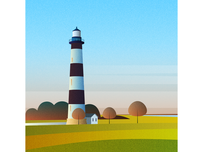 North Carolina - Outer Banks vector illustration flat design
