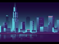 Chicago skyline from Adler Planetarium Pier