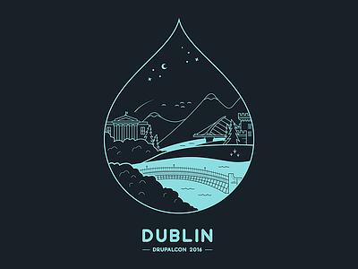 Drupalcon Dublin t-shirt t-shirt drupal drupalcon illustration