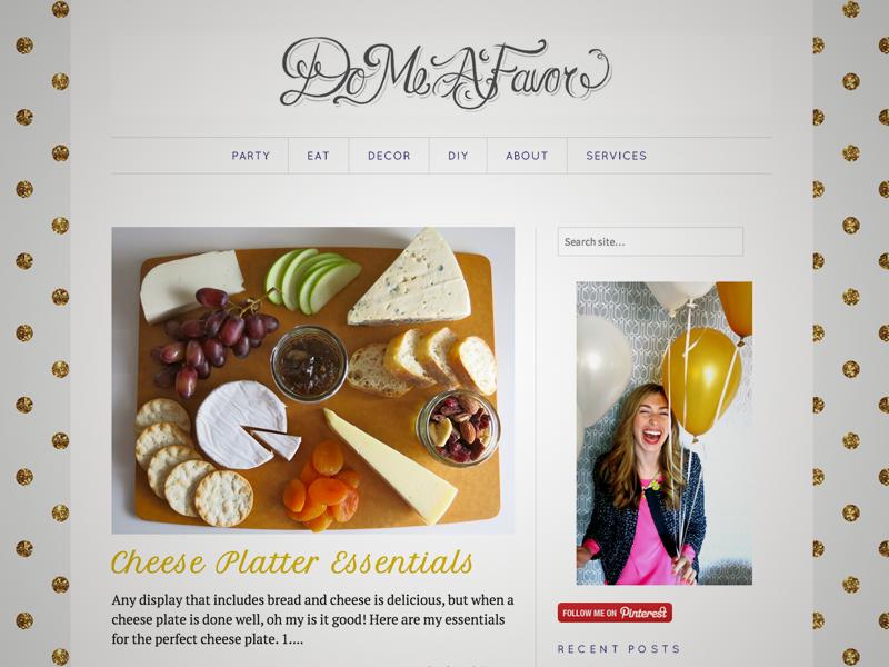 Do Me a Favor | Blog Design blog wordpress website website design web design typography site customization branding logo hand-letters hand-lettering