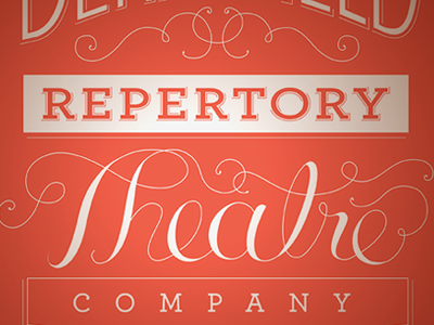 Derryfield Repertory Theatre Company t-shirt theater theatre t-shirt design typography lettering vector illustrator type decorative type vintage type hand-lettering