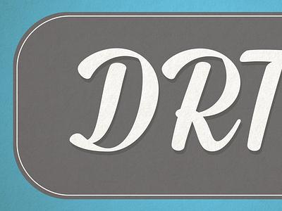 DRTv typography graphic design design type typeface
