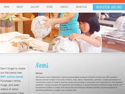 Theater Camp Website web web design website website design graphic design layout html css typography type