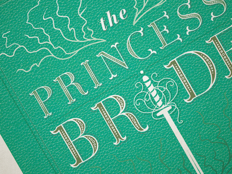 Book Cover WIP | The Princess Bride book book cover typography type graphic design