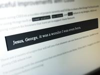 Jesus, George