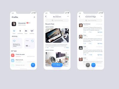 Social App Screen Shot design mobile ui mobile ui app