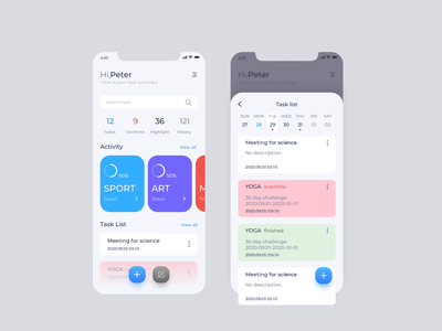 Schedule app mobile app design ui mobile ui app