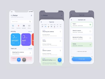BGM V2.0 ui components sample pages todo app task manager scheduling task red ux design uidesign ui components react native react app development mobile ui app