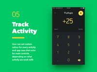 Weekly Goals — Track Activity Screen