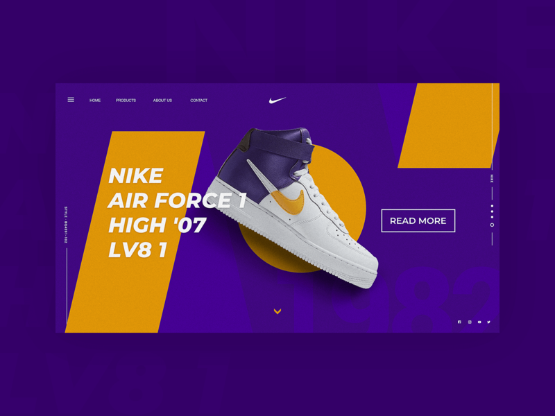 Homepage Design No.010 shoes nike e-commerce webdesign web homepage banner branding ux ui design