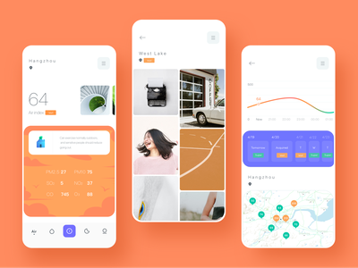 Air index💚 typography ux design icon dragonlee card ue app ui air index