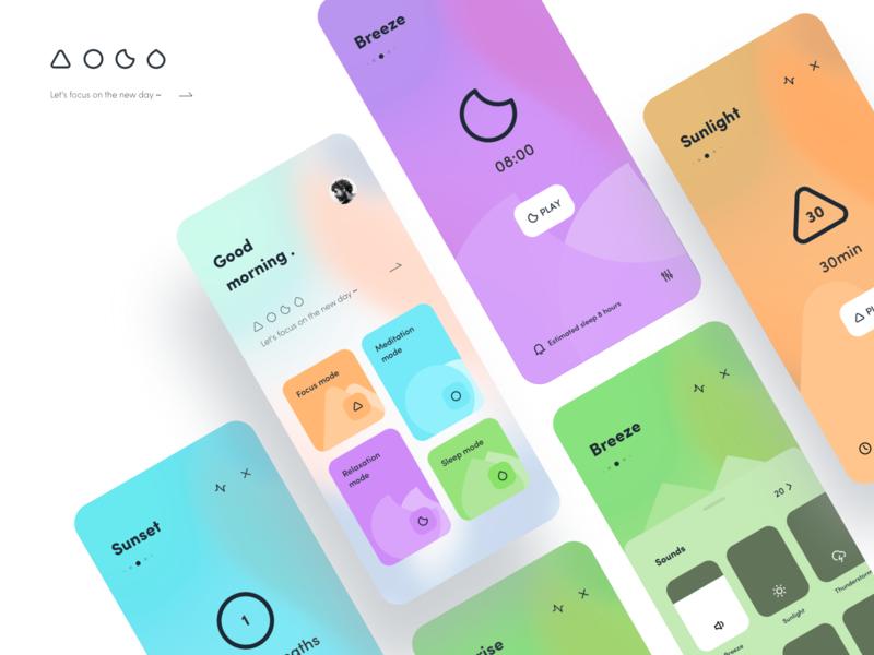 Meditation 🦄 mobile app mobile card typography dragonlee design icon app ue ui meditation app meditation