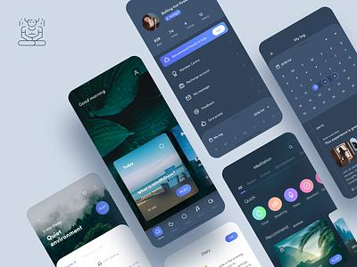 🌈Meditation App ——RX mobile design mobile card typography ux logo dragonlee design icon app ue ui meditation app