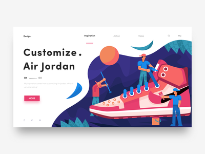 Customize Air Jordan Web aj sneaker air jordan web illustration ux invites ui