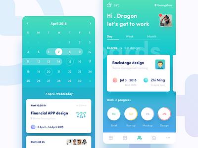 Time Management  2 icon invites design ux app ue ui