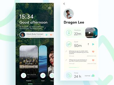 Meditate App meditation invites meditate typography hiwow icon logo design ux app ue ui