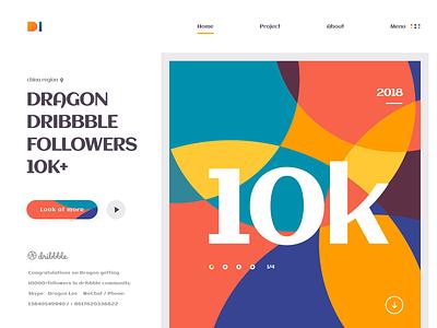 10k  Followers constitute web logo illustration icon ux design hiwow