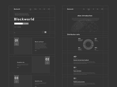 Blockworld Web Prototype hiwow typography design ux