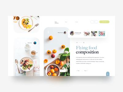 Food 😜 web design hiwow ue ui