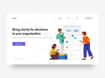 Help you make better decisions decision web illustration icon ux design hiwow ui