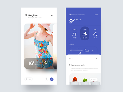 Good Weather 🏜 weather weather app design icon ui dragonlee weather icon beauty blue mood ux