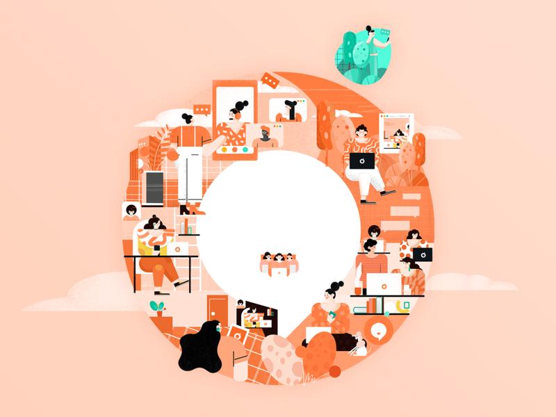 D-Chat插画 插图
