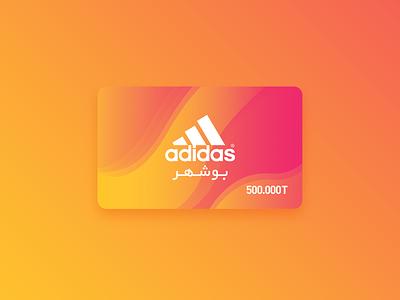 Gift card design for Bushehr Adidas store card gift card graphic design gradient design visual identity brand identity branding