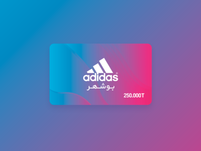 Gift card design for Bushehr Adidas store