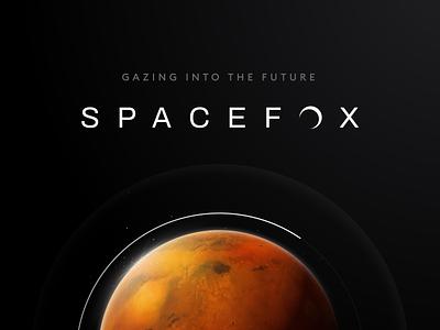 SpaceFox - Logo Design real estate space mars dark theme typography logo design ui identity branding