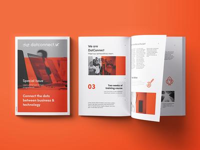 DotConnect.vc booklet id orange identity icons logo booklet print branding