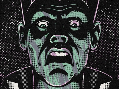 Ty Segall gig poster screenprint halftone