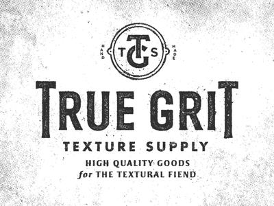 True Grit Texture Supply Logo halftone texture