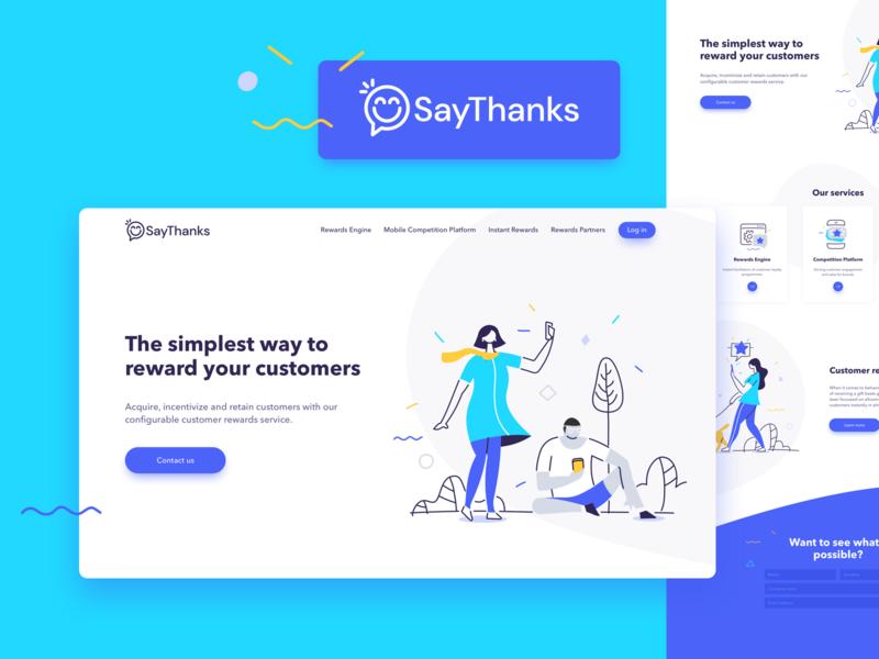 SayThanks Branding & Landing Page WIP