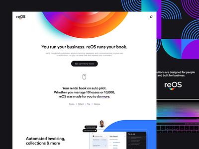 reOS Landing Page