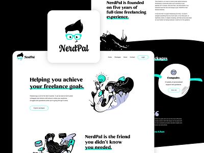 NerdPal Landing Page & Branding