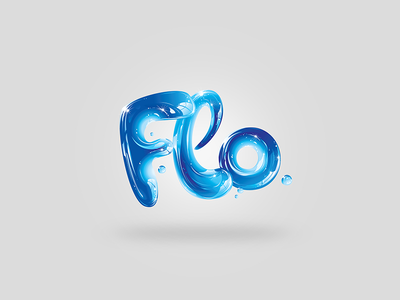 Flo Logo illustration branding logo-design