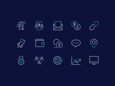 Crypto Icon set - Work in progress