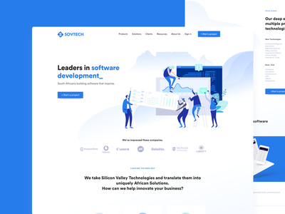 SovTech Landing Page