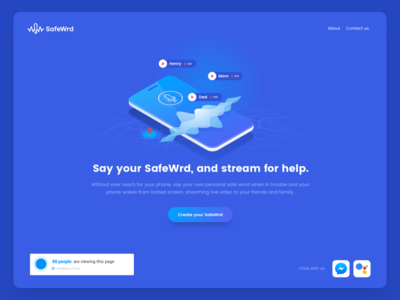 SafeWrd Landing Page Work in Progress