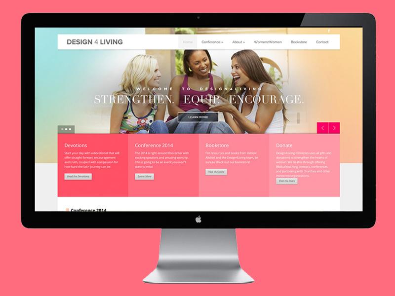 Design4living web design website non-profit women woman girl