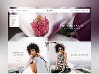VIDA  Shop Landing Page