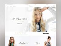 VIDA - Home Page Design