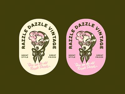 Razzle Dazzle Vintage 50s 1950s vintage illustrator design character logo branding retro vector colorful illustration