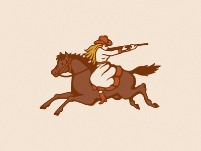 Target Practice southwest western cowgirl cowboy vintage branding logo illustrator retro colorful vector illustration