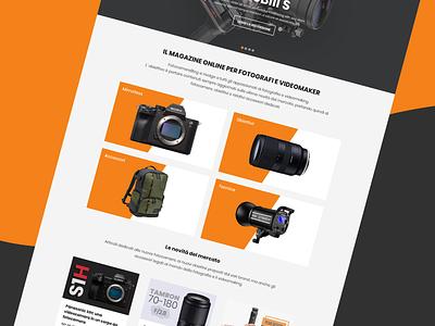 FotocamereBlog web ui design blog website