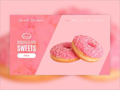 Sweets Shop Landing Page web sweets dailyui 003 web design website landing page design ux ui dailyuichallenge dailyui